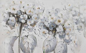 Рисованные шапки цветов