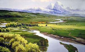 Горная долина летом