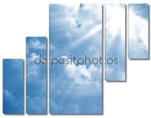 Голубое небо луч солнца