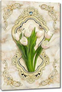 Тюльпаны с бусами