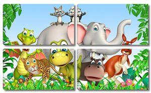 Group of  wild animal