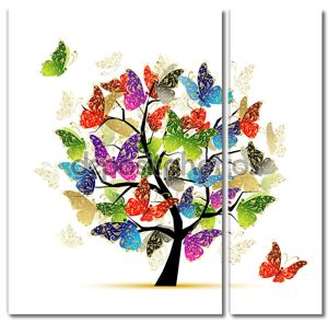 Искусство дерево с бабочками для вашего дизайна