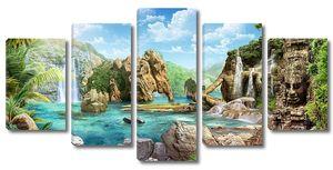 Невероятные скалы в тропиках
