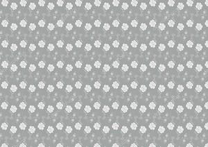 Серая текстура, маленькие белые цветки.