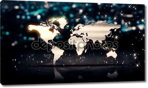 На мировой карте свет