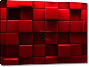 Красная стена кубов блоков фон
