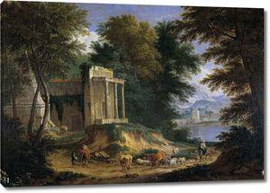 Баудевейнс Адриан Франс. Пейзаж с руинами