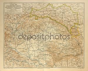 Старая карта Венгерской империи