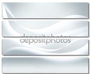Белый фон с плавными линиями