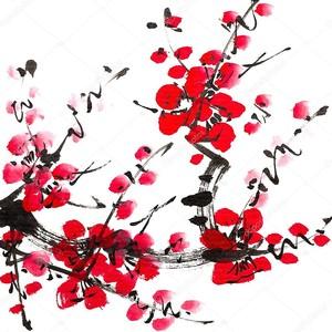 Цвет сливы акварель