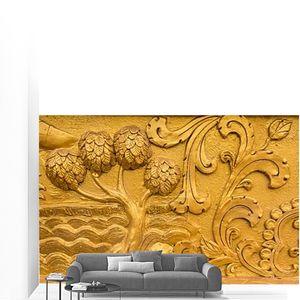 Золотой стены Таиланд Храм