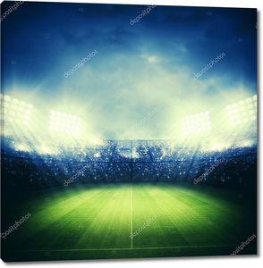 Футбольный стадион в огнях