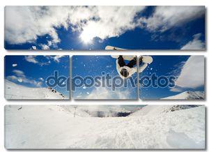 Сноубордист backflip
