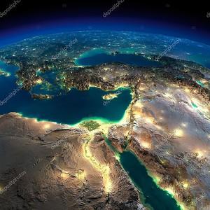 Ночной земли. Африка и Ближний Восток