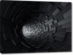 Абстрактные 3d-рендеринга футуристический туннель черный