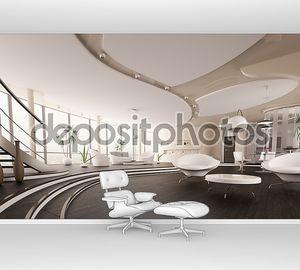 Интерьер современный дом Панорама 3d визуализации