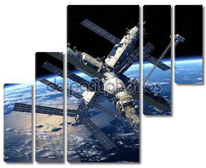 Земля орбиты космической станции