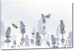 Бабочки на цветочных шапках
