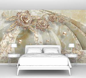 Мраморный цветочный тоннель