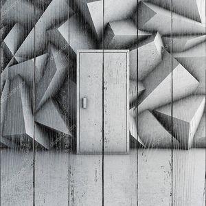 Дверь в бетонной стене