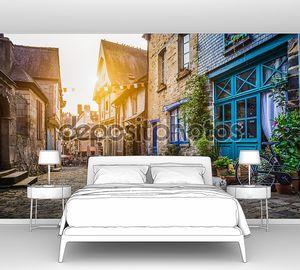 Старый город на закате с эффект фильтра стиль ретро Винтаж instagram в Европе