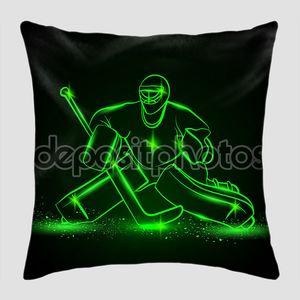 Hockey goalie, neon style