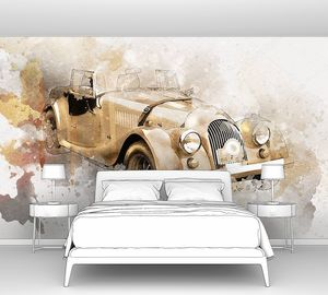 Ретро-классический старый автомобиль