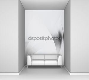 Яркие серые абстрактный фон волна линии текстуры