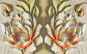 Цветы из фаянса