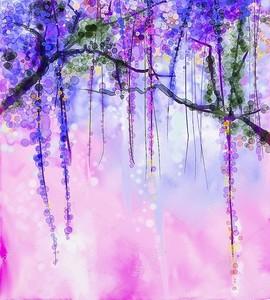 Абстрактные акварельные цветы