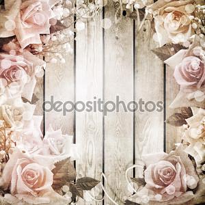 Свадьба старинный романтический фон с розами