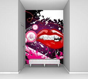 Векторная иллюстрация губы