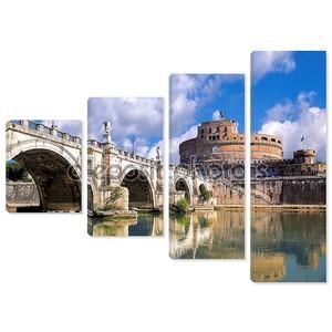 Анджело с мост в Риме, Италия