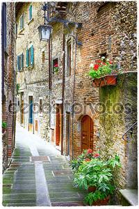 Очаровательных улочек средневековых городов Италии