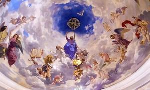 Jesus Angels Painting Saint Nicholas Church Kiev Ukraine