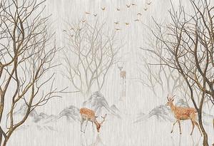 Пятнистые олени в кустах