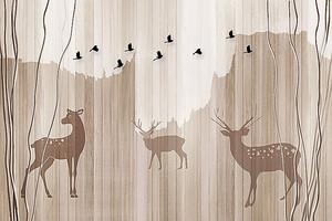 Силуэты пятнистых оленей