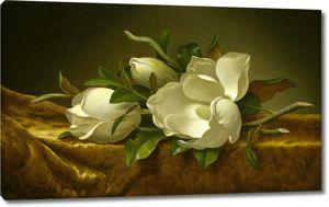 Магнолии на золотой вельветовой ткани, Мартин Хед