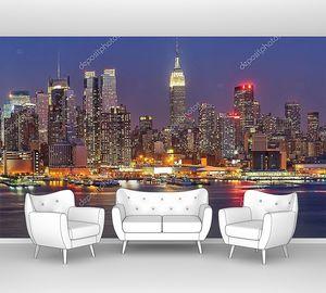 Разноцветный ночной Манхэттен