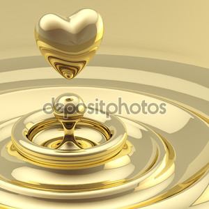 Абстрактный фон волны с падение сердце