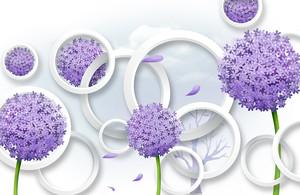 Шарообразные цветы с кругами