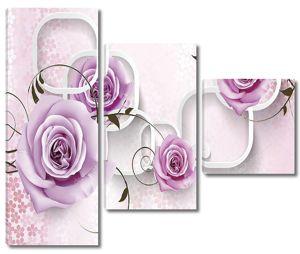 3D фон для интерьера с розами