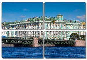 Вид Санкт-Петербурга. Зимний дворец с Невы