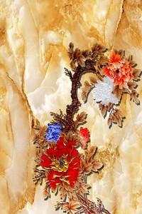Мраморный фон-фантастическое дерево с цветами