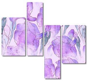 Gentle abstract irises