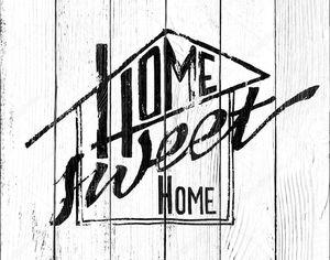 Home Sweet Home вектор надписи. Мотивационные цитаты. Рука нарисованные типографский плакат, векторные иллюстрации. T рубашки руку буквами каллиграфическим дизайном. Вдохновляющие Векторный
