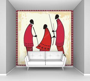 Vector African Masai Warriors Illustrations