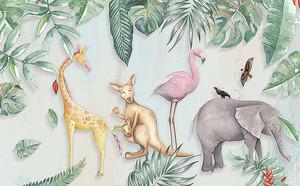 Кенгуру с разными животными