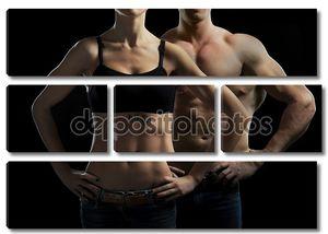 Мужчина и женщина в позируют