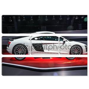 FRANKFURT - SEPT 2015: Audi R8 V10 plus presented at IAA Interna